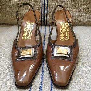 SALVATORE FERRAGAMO Vintage Slingback Heels